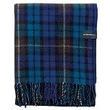 """The Tartan Blanket Co. Recycled Wool Blanket in Buchanan Blue Tartan (59"""" x 75"""")"""