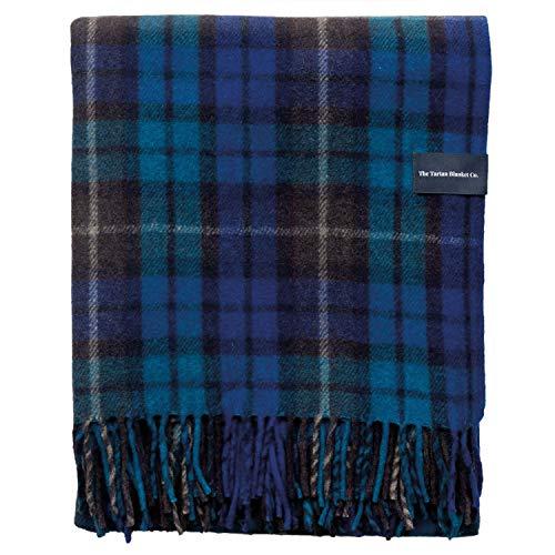 The Tartan Blanket Co. Recycled Wool Knee Blanket in Buchanan Blue Tartan (28