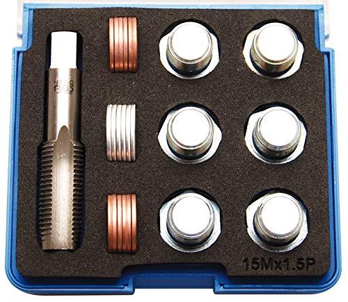 BGS 157 | Reparatursatz für Öl-Ablass-Gewinde | M15 x 1,5 mm