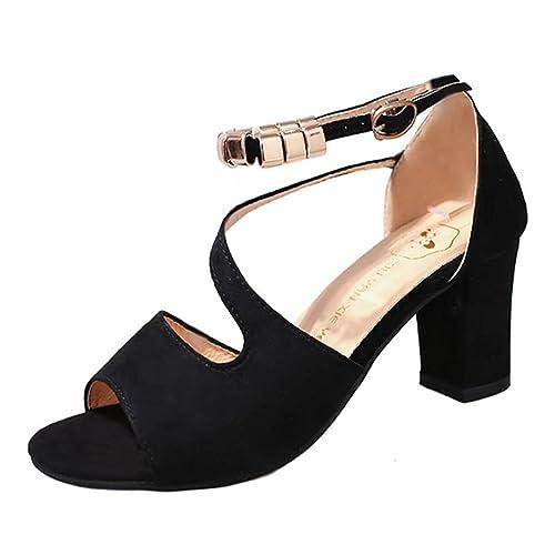 Damen Schuhe Sandalen Mit Absatz Elegant Amazon De