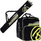 Brubaker Kombi Set Carver Champion - Skitasche und Skischuhtasche für