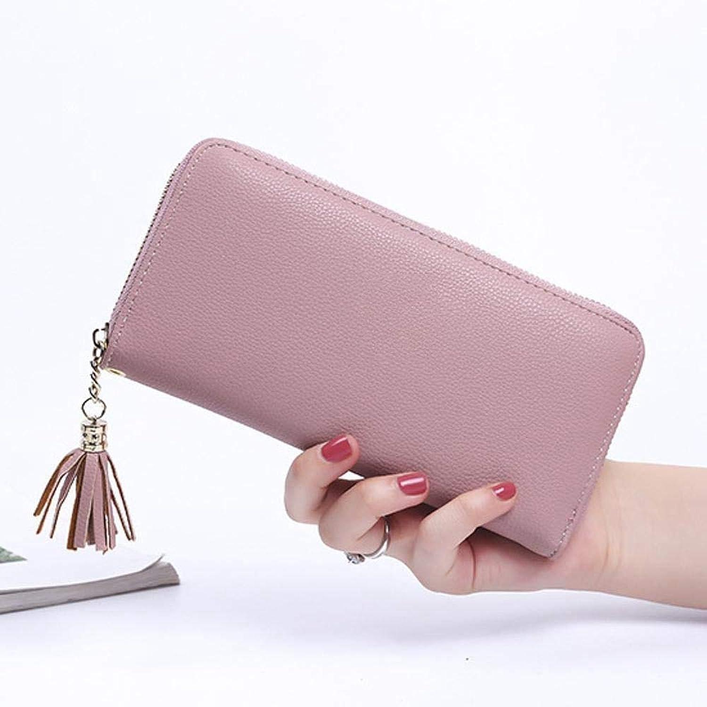 Girls Purse Women's Wallet Lady's MultiFunction Wallet, Zipper Purse, PU Leather (color   F)