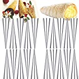 Stainless steel cannoli form tubes, conical tube membrane DIY tools baking cake mold, baking pastry cream cones Horn coil forms,20pcs