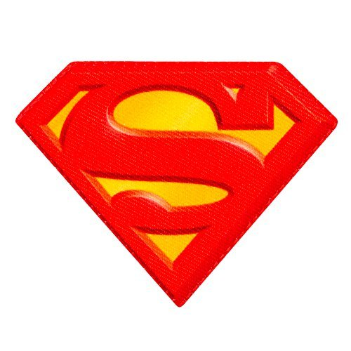 - Logo icono SUPERMAN - parche aplicación patch - 8 x 6 cm aproximadamente