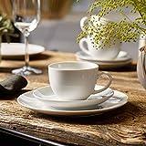 vivo by Villeroy & Boch Group - New Fresh Basic Kaffee-Set, 18 tlg., für bis zu 6 Personen, Premium Porzellan, spülmaschinen-, mikrowellengeeignet, Weiß - 2