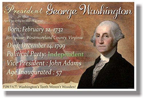Presidential Series - George Washington - NEW Famous U.S. President POSTER