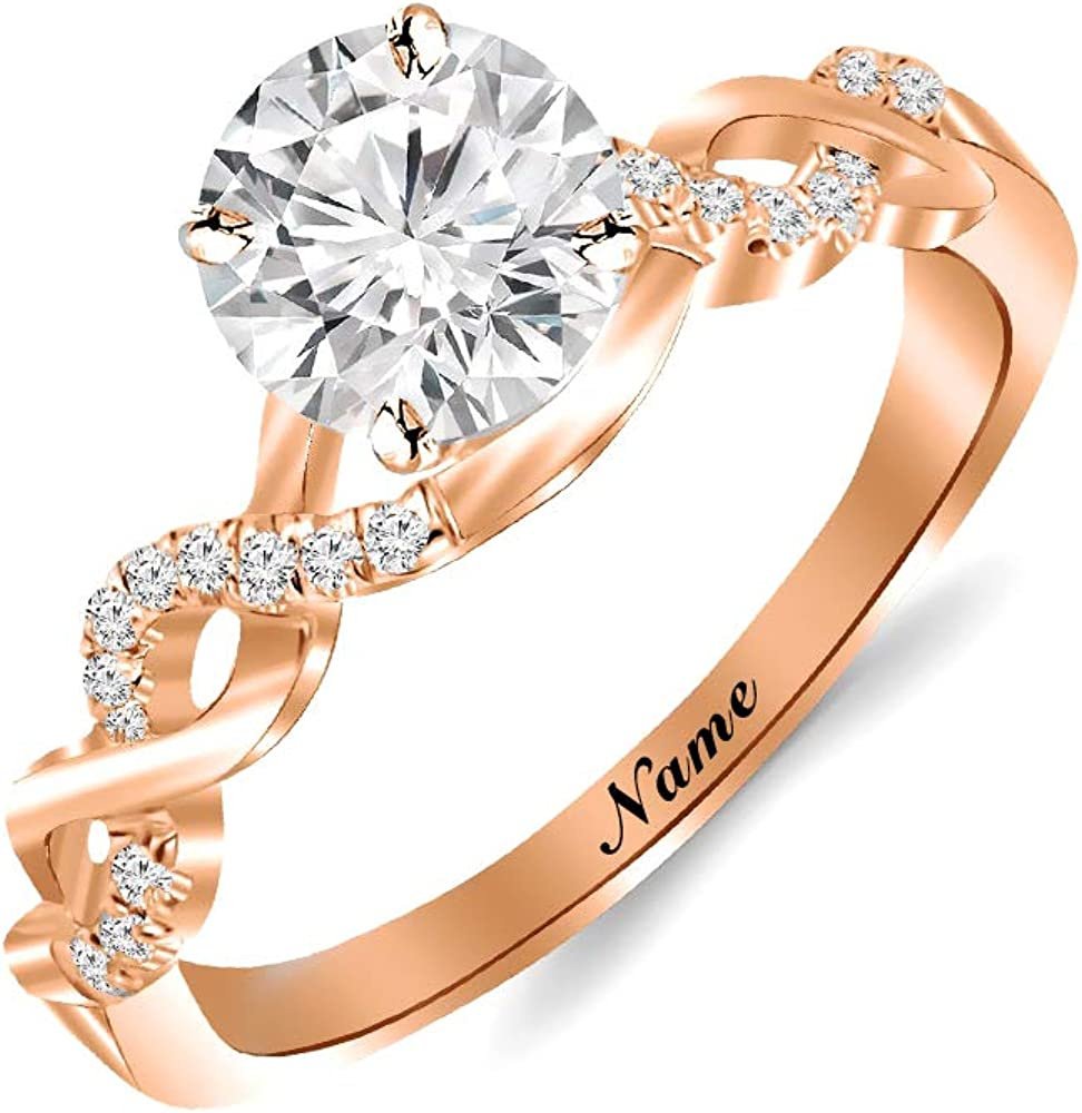 SISGEM 10K 18K Gold Engagement Quality inspection Ring Pave Women Shank for Split S Limited Special Price