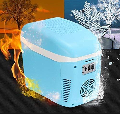 NLRHH 7.5L refrigerador de Coche, Mini refrigerador pequeño hogar Dormitorio portátil refrigerador Mini Nevera con congelador-Rosa Peng (Color : Blue)