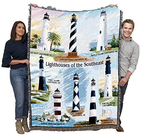 Lighthouses of the Southeast Blanket Throw