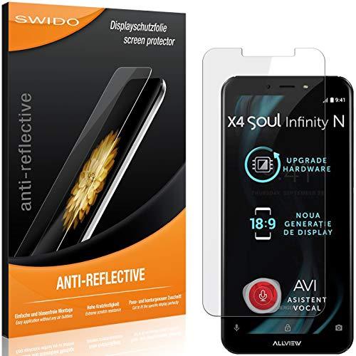 SWIDO Bildschirmschutzfolie für Allview X4 Soul Infinity N [3 Stück] Anti-Reflex MATT Entspiegelnd, Extrem Kratzfest, Schutz vor Kratzer/Folie, Bildschirmschutz, Schutzfolie, Panzerfolie