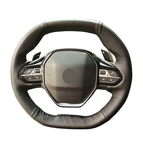 YJLC Para Cubierta del Volante del Coche para Peugeot 3008 2016 2019 4008 2016 2019 5008 2017 2019 Rifter