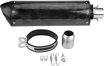 Exhaust Tailpipe, Motorcycle Carbon Fiber Exhaust Muffler Tailpipe for USA Two Brothers HONDA SUZUKI