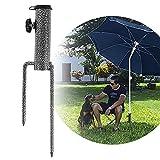 Lakpopya Sonnenschirmständer Rasendorn Schirmständer,Outdoor Sonnenschirm Bodenstecker Schirm Bodenstecker(Rasendorn Standfuß für Strand Fischen Garten)
