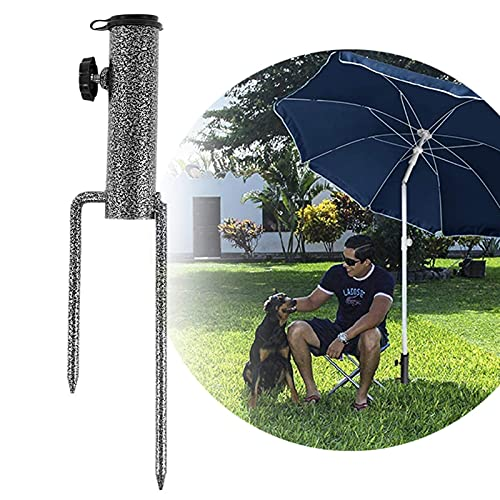 LEcylankEr Sonnenschirmständer Rasendorn Schirmständer,Outdoor Sonnenschirm Bodenstecker Schirm Bodenstecker(Rasendorn Standfuß für Strand Fischen Garten)