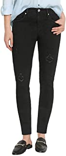 BUFFALO David Bitton Ladies' Jess Rip and Repair Jean, Black, 4/27