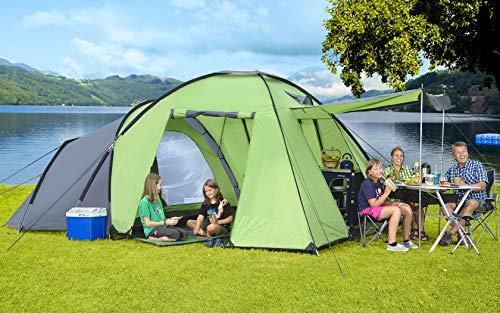 Berger Familienzelt Merano 4 Campingzelt Trekkingzelt Kuppelzelt Tent Zelt 3000mm Festival Zelten