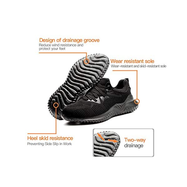 Truaimix Work Safety Shoes,Hiking Shoes, Breathable Outdoor Steel Toe Footwear Slip Resistant Lightweight Industrial and Construction Advisable Shoes for Men and Women