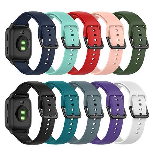 Chofit Correa compatible con Garmin Venu Sq Music/Venu Sq, banda de repuesto de liberación rápida de 20 mm, pulsera deportiva de silicona suave para Venu Sq Music/Venu Sq/Venu Smartwatch
