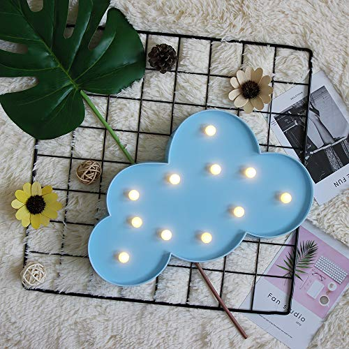 Cloud Marquee Light GUOCHENG Decor Light LED Night Light Battery Operated Table Lamps for Party Children Kids Bedroom Lighting Decoration Birthday£¬Christmas Gifts for Kids(Blue Cloud)