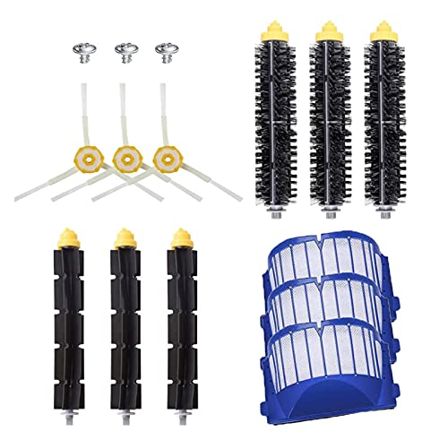 FANGFANG TRUSTTWO Aero Vac Filters & Beatter Bristle Cepillos Laterales Ajuste for Irobot Roomba 600 Series 620 630 650 660 680 Piezas de aspiradora (Color : SMT105)