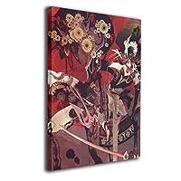 Skydoor J パネル ポスターフレーム 女性のお侍 インテリア アートフレーム 額 モダン 壁掛けポスタ アート 壁アート 壁掛け絵画 装飾画 かべ飾り 30×20