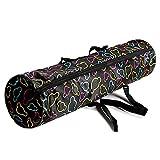Ducomi - Bolsa para esterilla de yoga con cremallera, bolsillo y asa – Bolsa para alfombra de gimnasio – Bolsa funcional 69 x 15 cm para todas las alfombrillas de yoga – Regalo para mujer (Micky)