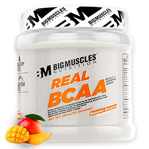 Bigmuscles Nutrition Real BCAA [50 Servings, Summer Bonanza] -100% Micronized Vegan, Muscle Recovery & Endurance BCAA Powder, 5 Grams of Amino Acids, Keto Friendly, Caffeine Free