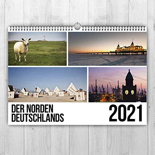 Der Norden Deutschlands Kalender 2021 - Landschaftskalender DIN A3