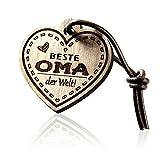 FORYOU24 Schlüsselanhänger Herz mit Gravur aus Holz - Beste OMA
