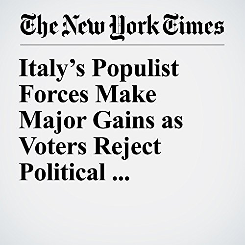 Italy's Populist Forces Make Major Gains as Voters Reject Political Establishment copertina