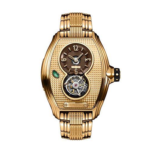 memorigin Bourbon Serie Tourbillon Relojes de Color Dorado