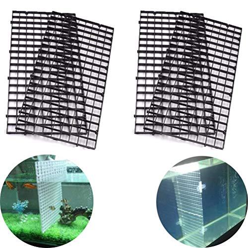 BraveWind 2 Stück Gitter-Trennwände für Aquarium, Aquarium, Filter unten, Isolierscheibe, schwarz oder weiß