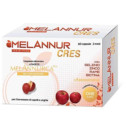 Melanurcress – Elisir para el cabello – 60 cápsulas de 2 meses – con auténtico extracto de manzana Annurca aliada de la salud del cabello | 100% alta calidad