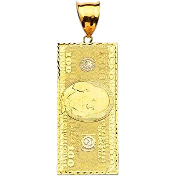 Solid 10K Yellow Gold Fashion Small Pendant For Mens