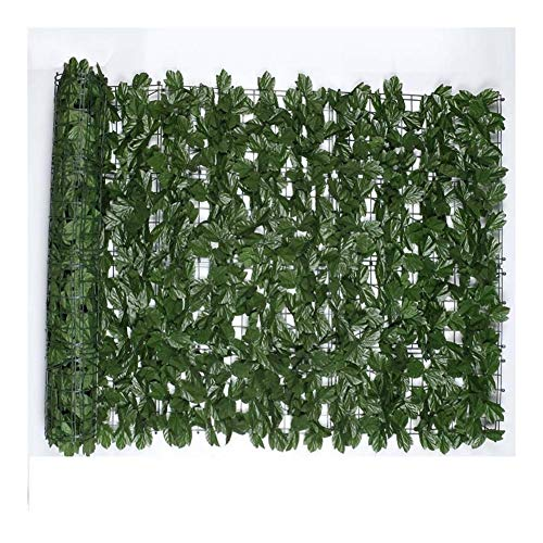 1x3m Wall Artificial Ivy Leaf Hedge Screening Roll Artificial Privacy Fence Screen Faux Ivy Leaf Screening Hedge for Outdoor Indoor Garden Backyard Patio
