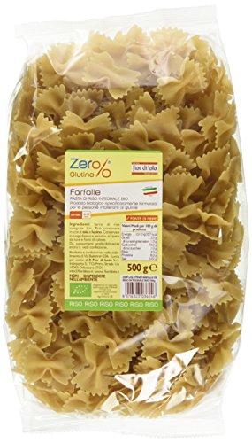 Zer% Glutine Farfalle di Riso Integrale - 500 gr, Senza glutine