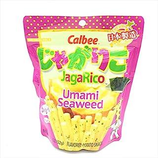 Calbee JagaRico (Jagariko) Umami Seaweed Potato Snack,Made in Japan 1.83 oz (2 packs)