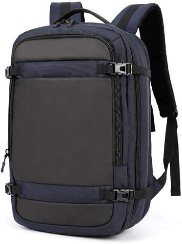 Nvfshreu Sac à Dos D épaule Sac à Dos à La Simple Style Mode pour Hommes Sac à Dos Oxford Tissu Sac à Dos Grande Capacité portable Sac à Double Usage (Couleur   Bleu, Taille   One Taille)