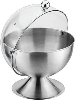 2 Vasetti di Spezie in Acciaio Inossidabile per Sale Set di Pentole per Condimenti ACAMPTAR Zuccheriera con Coperchio e Cucchiaio Argento