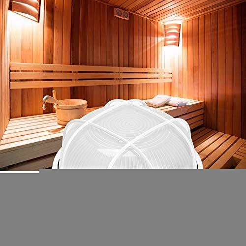 Lámpara de sauna, 60W Luz de sauna redonda profesional Lámpara de alta temperatura a prueba de explosiones para baño Uso de sauna 220V para sala de sauna/baño de vapor/baño