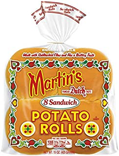 Martin's Martin's Potato Sandwich Roll - Frozen, 6 x 340g