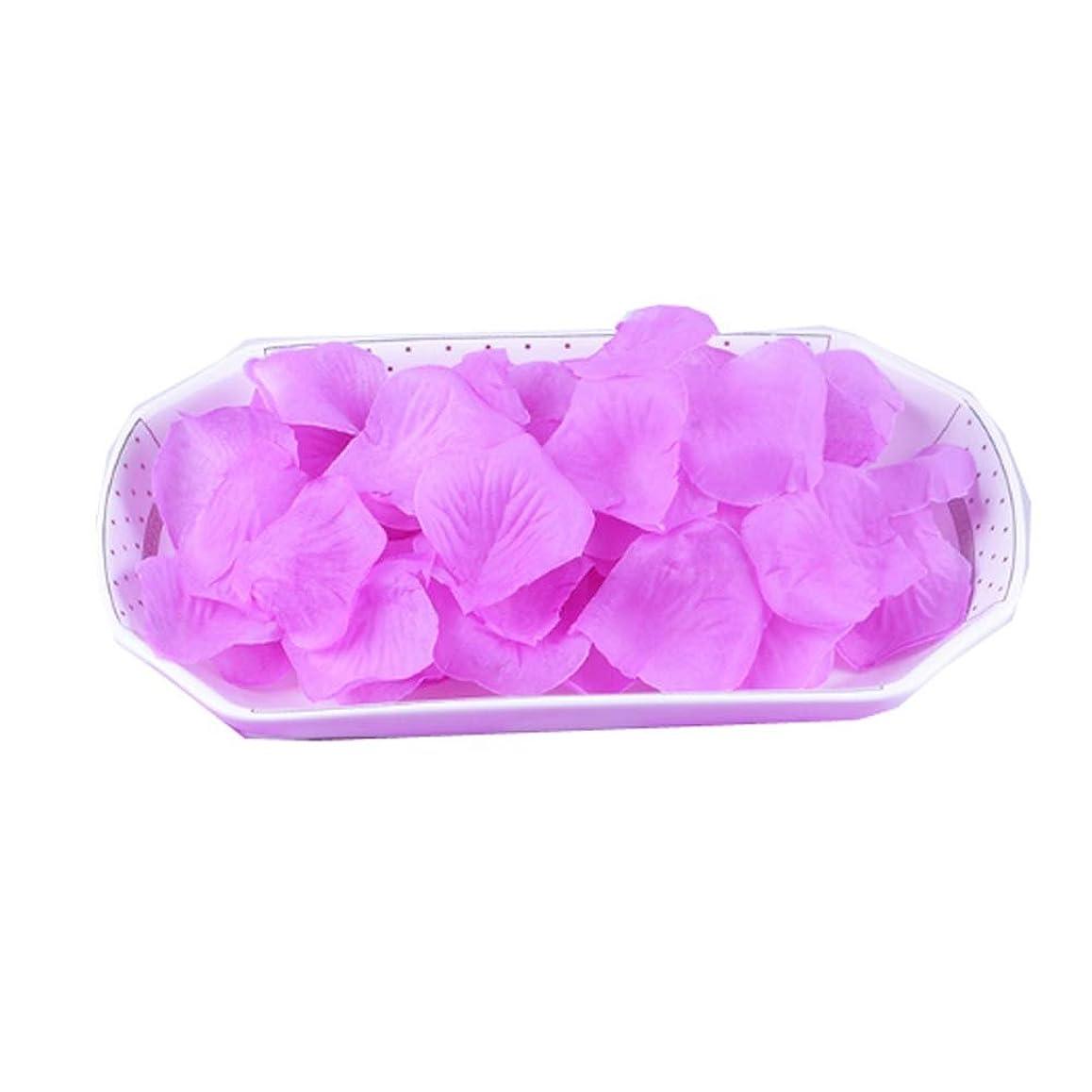 けん引部分的に砦結婚式の2000 PC用の人工花びら紫