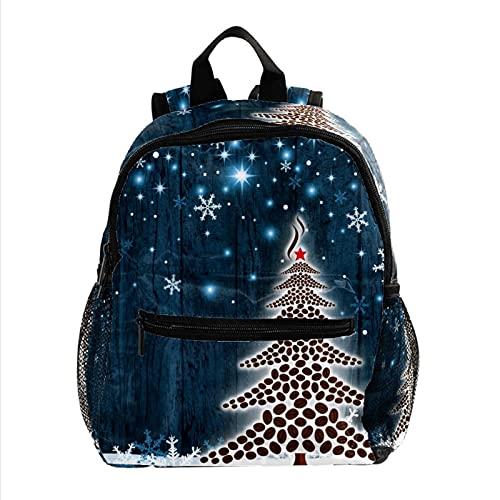 RuppertTextile Zaino piccolo per borsa da viaggio Duffel Fashion Sackpack per ragazze e ragazzi Chicchi di caffè dell'albero di Natale con cerniera sulla spalla