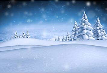 5x5FT Vinyl Photo Backdrops,Winter,Trees Snowflakes Mix Background for Selfie Birthday Party Pictures Photo Booth Shoot
