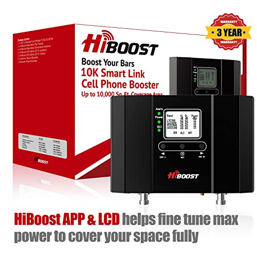 HiBoost 10K Smart Link - Cell Phone Signal Booster - Improves Reception on Phones, Tablets and...