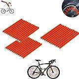 ETHEL Raggi Riflettenti,36 Pezzi Riflettori per Raggi della Bicicletta,Fermagli per Raggi del riflettore,per Bambini &Adulti Bicicletta Facile da Montare (Rosso)