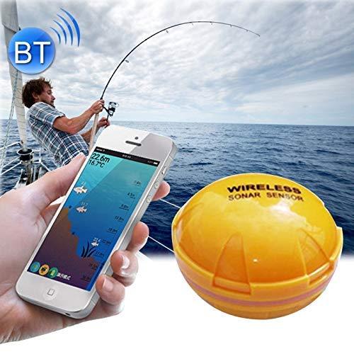 SISHUINIANHUA Detector De Sensor De Pescado Bluetooth Sonar Alarma 0.6-36M Localizador De Profundidad