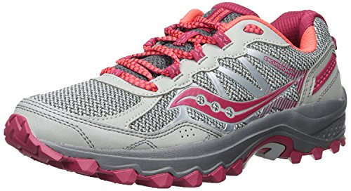 Saucony Women's Excursion TR11 Running Shoe, Grey Pink, 9 Wide US