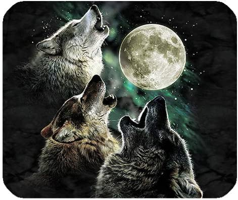Ranking TOP4 Personalized Wolf Customized Discount is also underway Rectangle Non-Slip Mousepad Rubber
