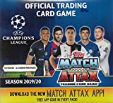 2019 2020 Topps UEFA Champions League Match Attax Soccer Trading Card Game Display Box with 50 Packs of 6 Cards Per for a Total of 300 Cards